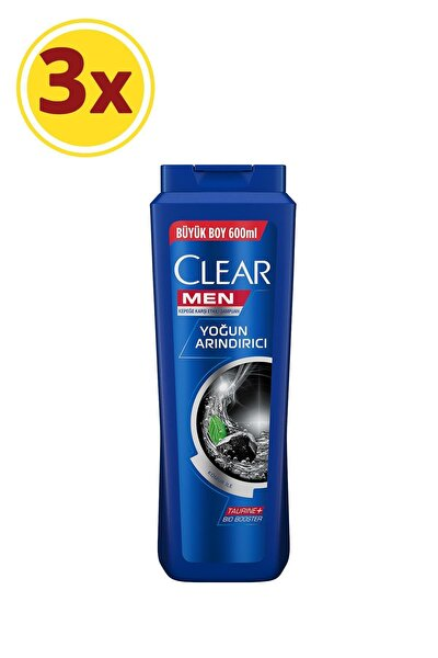 Men Yoğun Arındırıcı Kepeğe Karşı Etkili Şampuan 600 ml X3