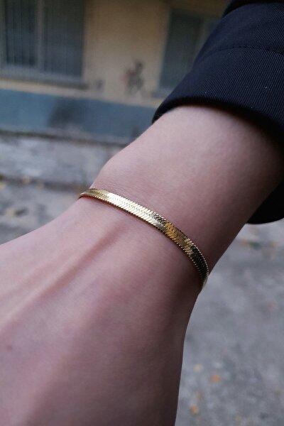 Kadın Altın Çelik İtalyan Zincir Bileklik