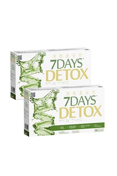 7 Days Detox - Spirulina Cla Yeşil Çay Ve Lime - 14 Saşe X 2 Kutu