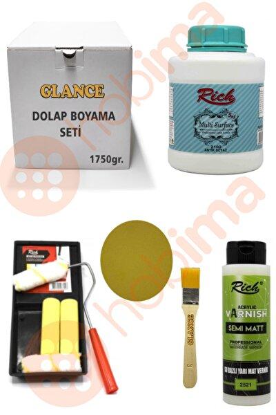 Glance Dolap Boyama Seti Multi Surface 1750 gr (Antik Beyaz)genel Amaçlı Boyama Seti