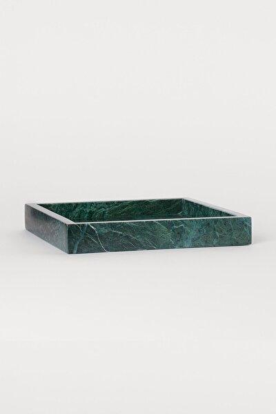 Loft Doğal Taş Mermer Tepsi - Yeşil Mermer