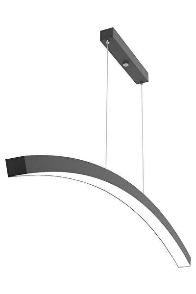 Luna ( Siyah Kasa, Beyaz Işık ) Ledli Modern Led Avize