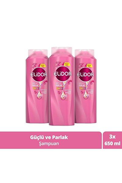 Güçlü Ve Parlak Saçlar Için Saç Bakım Şampuanı 650 ml X3