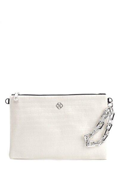 Kadın Beyaz Clutch  Çanta
