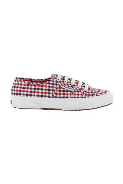 Check Blue Red White Kadın Ayakkabı