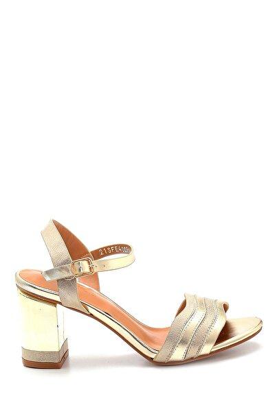 Kadın Altın Rengi Topuklu Sandalet