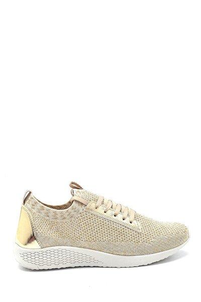 Kadın Gold Bağcıklı Sneaker