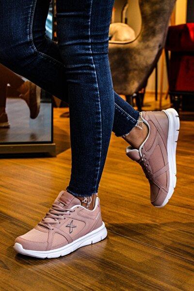 Kadın Pembe Sneaker Spor Ayakkabı Kn7676k