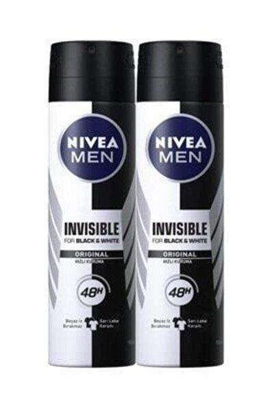 Invısıble Black&whıte Power Sprey Deodorant 150 ml Erkek 2'li Avantaj Paketi