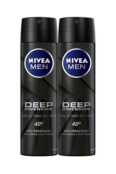 Men Deep Dimensıion Sprey Deodorant Erkek 150 ml 2'li Avantaj Paketi