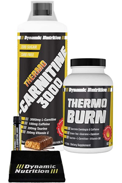 Dynamic Thermo L-Carnitine 3000 mg 1000 ml + Thermo Burn 60 Tablet + 3 HEDİYE