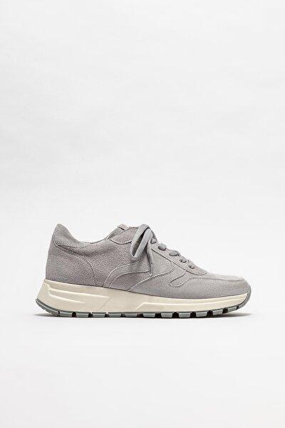 Kadın Gri Deri Sneaker