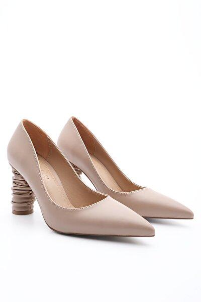 Kadın Vizon Duple  Stiletto Topuklu Ayakkabı