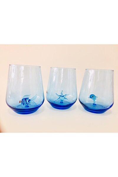 Marin Serisi Figürlü Su Bardağı 3 Lü Set
