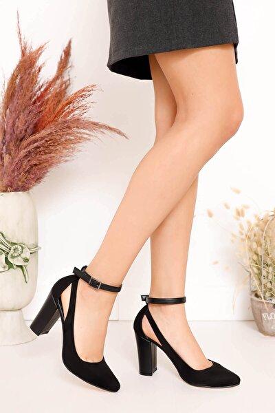 Lillian Topuklu Siyah Süet Ayakkabı