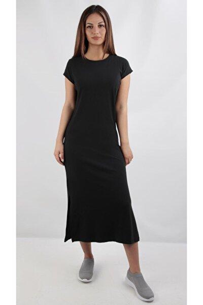 Yırtmaçli Kaşkorse Elbise, Siyah (B20-164701)