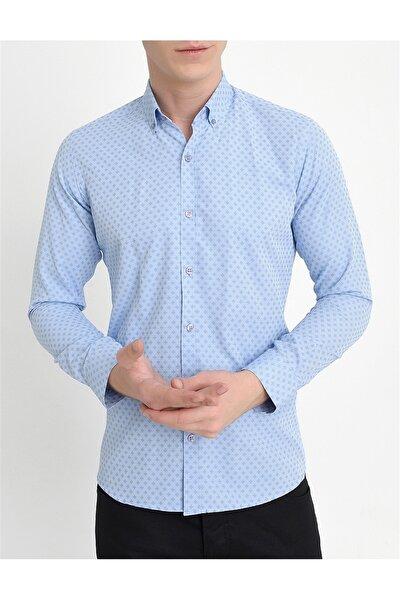 Gk 559 Slim Fit Mavi Klasik Gömlek