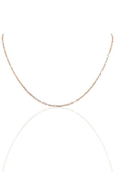 Gümüş 45 Cm Rose Aralıklı Figaro Zincir Sgtl10100rose