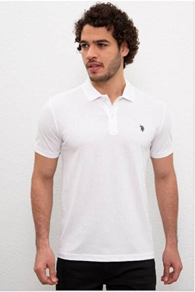 Erkek White Polo Yaka T-shirt