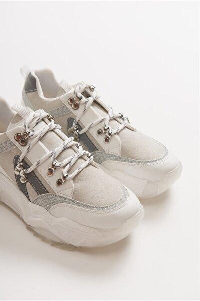 65136 Beyaz Kadın Spor Ayakkabı