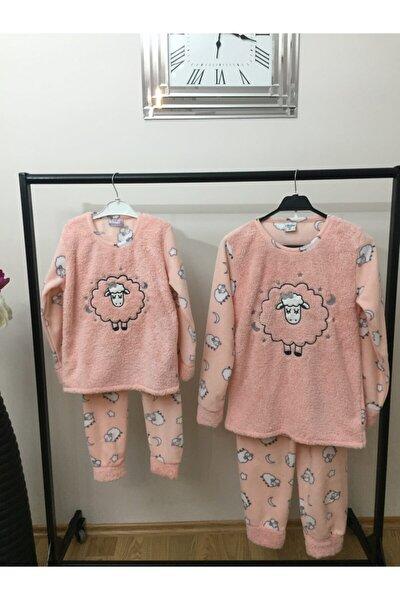 Anne Kız Kombin Polar Pijama Takım