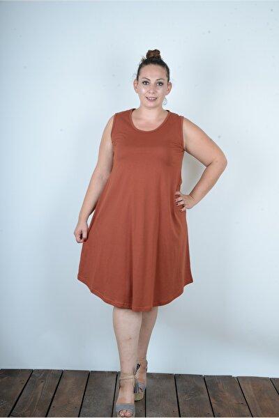 Çizgili Çan Etek Askılı Bayan Yazlık Elbise