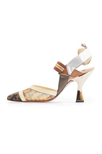 Taba File Detaylı Topuklu Ayakkabı
