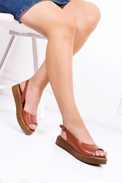 Hakiki Deri Taba Kadın Deri Sandalet Dp-0094