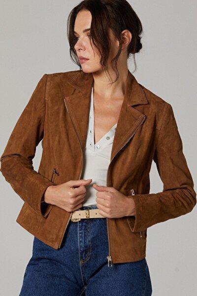 Lara Kadın Süet Deri Ceket