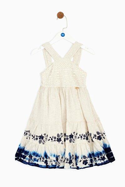 Kız Çocuk Ekru Elbise