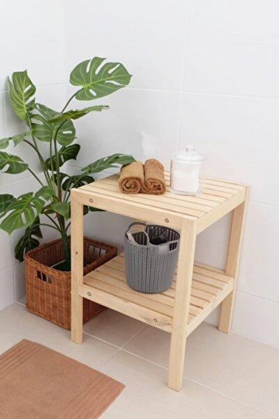 2 Raflı Yan Sehpa Çok Amaçlı Sehpa Banyo Ve Mutfak Rafı Wdn503