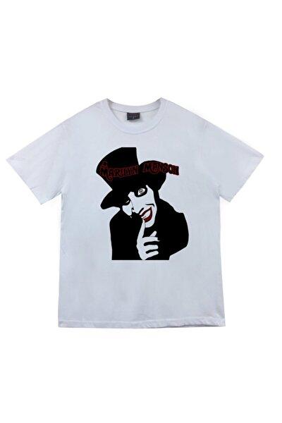 Marilyn Manson Baskılı T-shirt