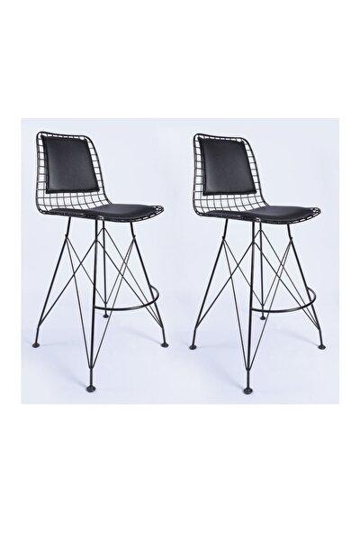 Tel Bar Sandalye 65 Cm Lik 2 Li