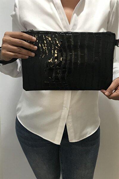 Siyah Clutch Portföy Çanta