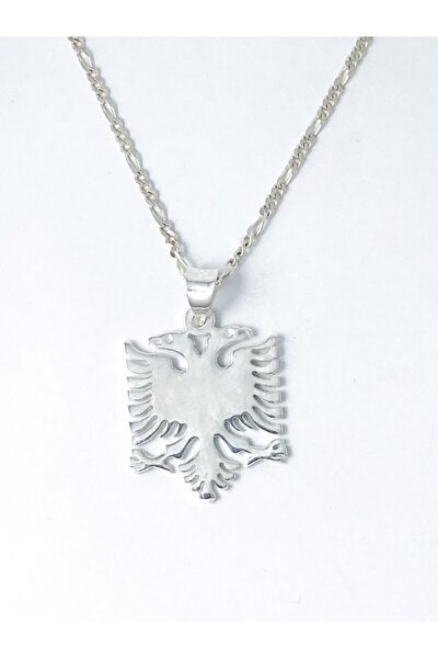 Arnavutluk Bayrağı 925 Ayar Gümüş Kolye