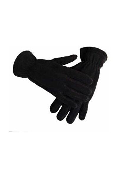 Termal Kışlık Polar Eldiven Siyah