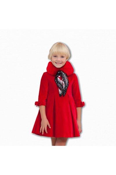 Abel&lula Kız Çocuk Kadife Kırmızı Elbise