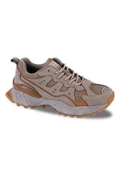 25760 Kadın Bej Rengi Tracking Ve Outdoor Tarzı Spor Ayakkabı.