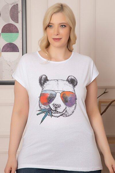 Kadın Büyük Beden Baskılı T-shirt