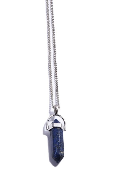 Lapis Lazuli Doğaltaş Çivi Kolye Tky0015