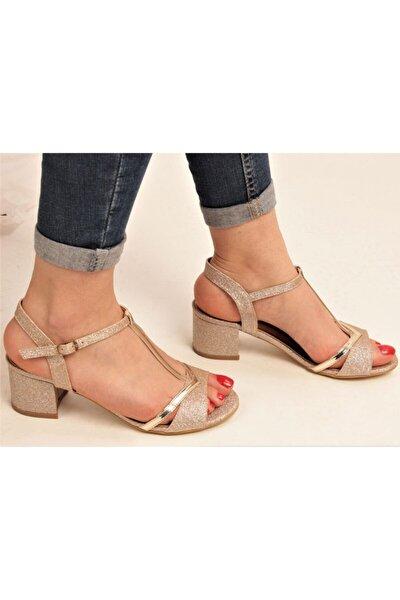 Kısa Topuklu Abiye Ayakkabı