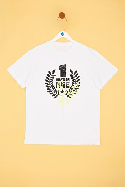 Erkek Çocuk Beyaz T-shirt