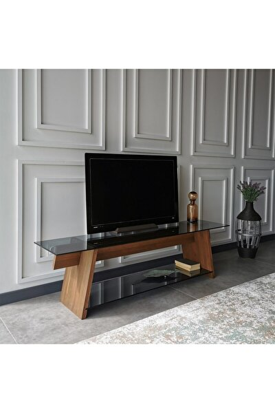 - Ahşap Tv Sehpası Woodn Glass Tv201