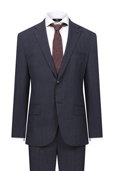 Lacivert Ekoseli Takım Elbise