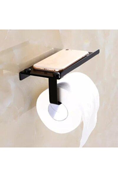 Dekoratif Tuvalet Kağıtlık Standı Siyah Aluminyum