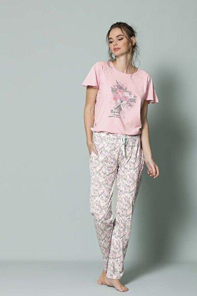 19079 Bayan Pijama Takımı Pembe