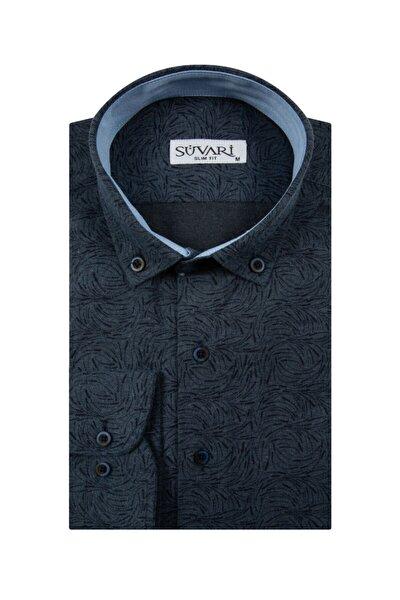 Slim Fit Desenli Kışlık Gömlek