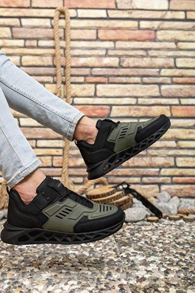 Haki Siyah Erkek Sneaker 00122021