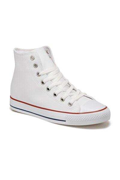 EC-2002 Beyaz Erkek Kalın Tabanlı Sneaker 100669641