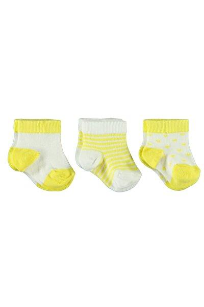 Kız Bebek 3'lü Çorap Set 0-18 Ay Sarı
